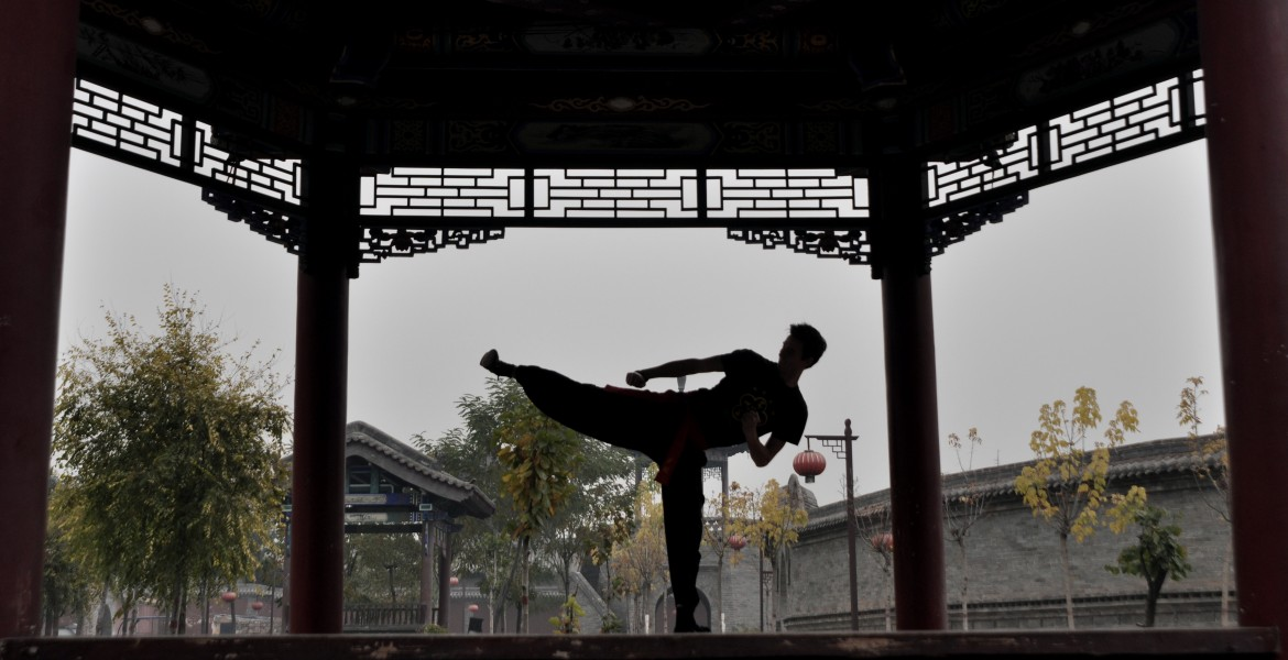 Arjuna traint kung fu in China